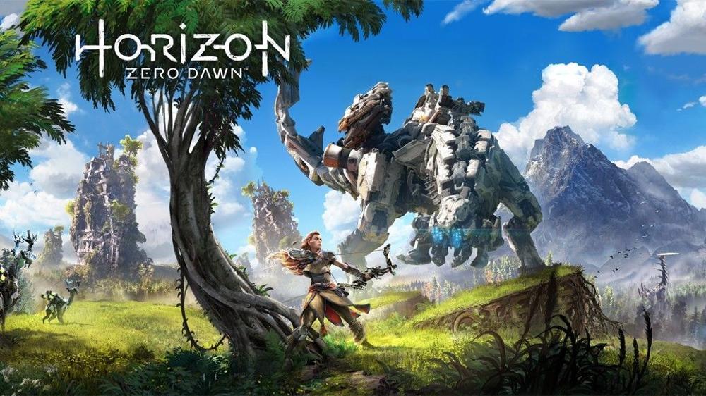 Horizonte zero dawn jogo 3 seda tecido cartaz da parede arte decoração adesivo brilhante
