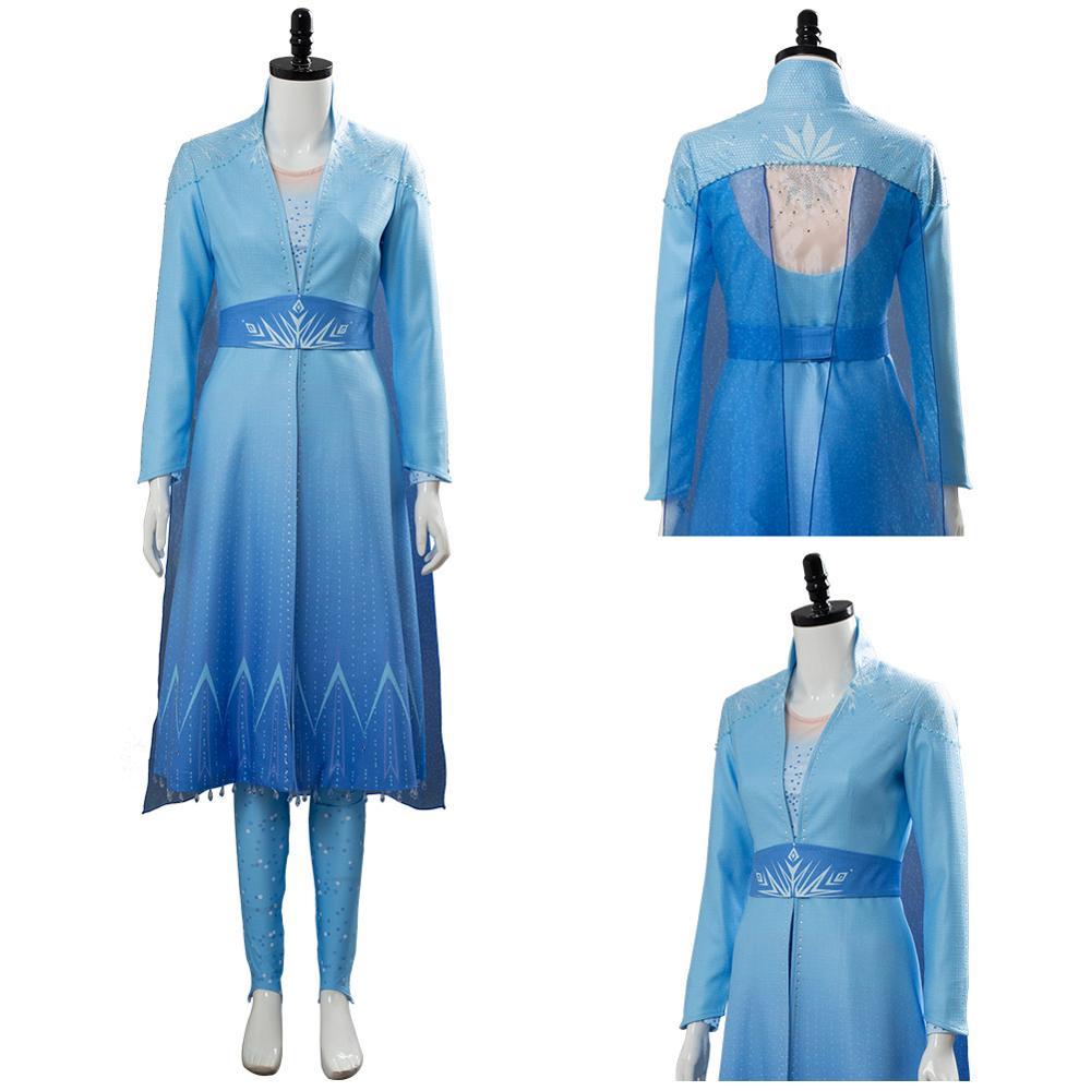 Olaf 2 aventura rainha elsa traje vestido ver. B cosplay traje feminino meninas halloween carnaval trajes de festa