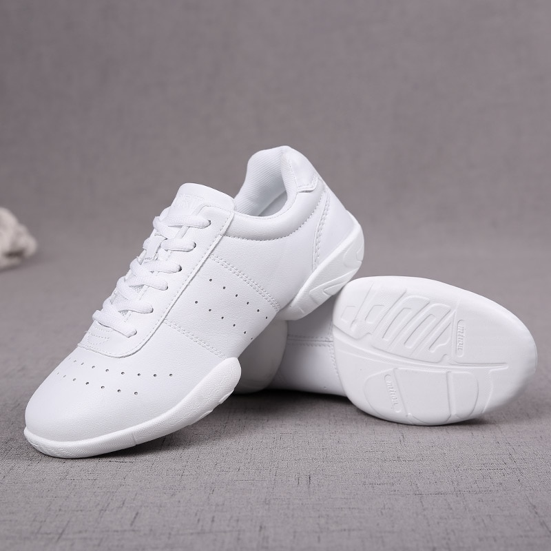 Dance Shoes Women White Professional Training Gym Sports Shoes Soft Outsole Jazz/Modern Sneakers Aer