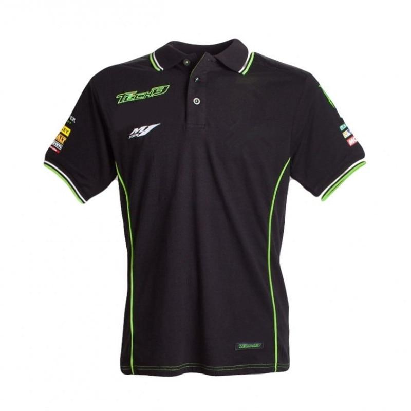 Moto gp Racing Für Kawasaki Motocard Team Motorrad Motorrad Kurzarm Sommer Jersey herren Polo Shirt