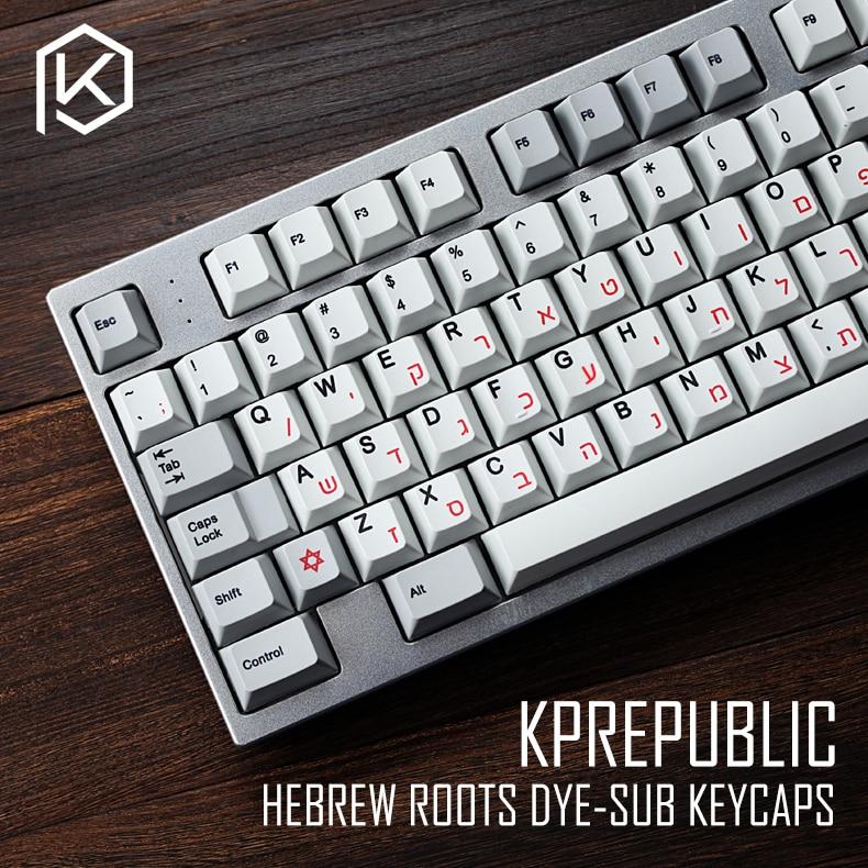 Kprepublic 139 hebraico raiz fonte letra cherry profile dye sub keycap conjunto pbt para gh60 xd60 xd84 cospad tada68 rs96 87 104 fc660