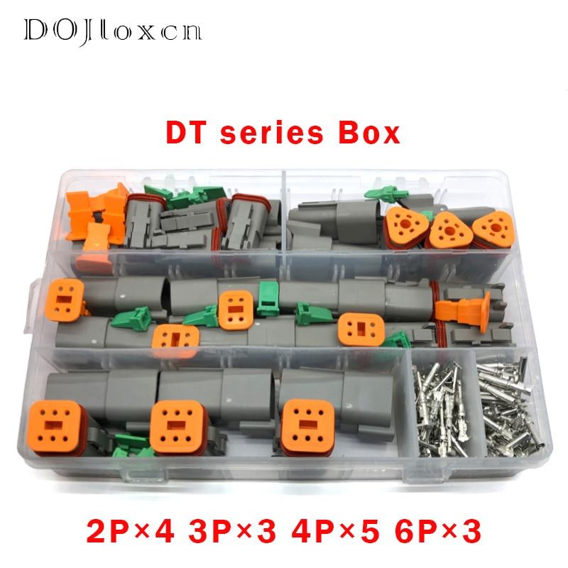 1 BOX 250 Pcs Deutsch DT Series Waterproof Wire Connector Kit DT06-2 3 4 6S DT04-2 6P Automotive Sealed Plug With Pins Box