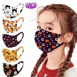 1 шт. детская маска с принтом на Хэллоуин для защиты лица маска mascarillas lavable cubrebocas многоразовая маска для лица противовирусная