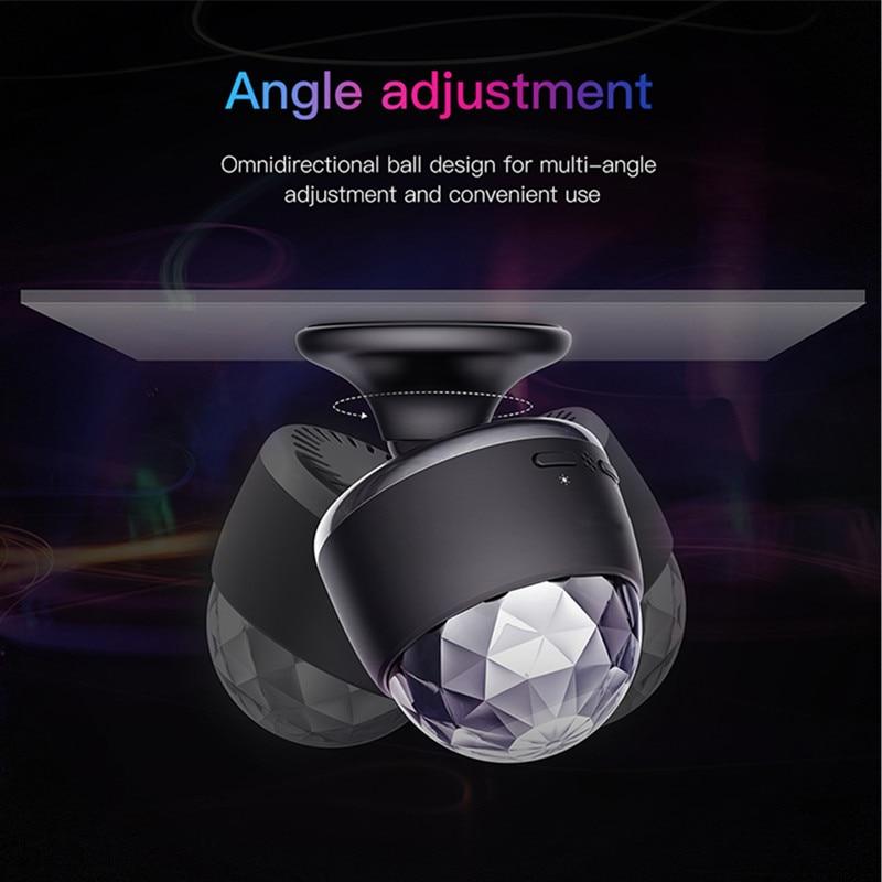 Cabeza de luz Led RGB Discolamp para Stag Discobal Dj Auto Interior del coche carga USB Luz Ambiental música de DJ Sensor de sonido fiesta