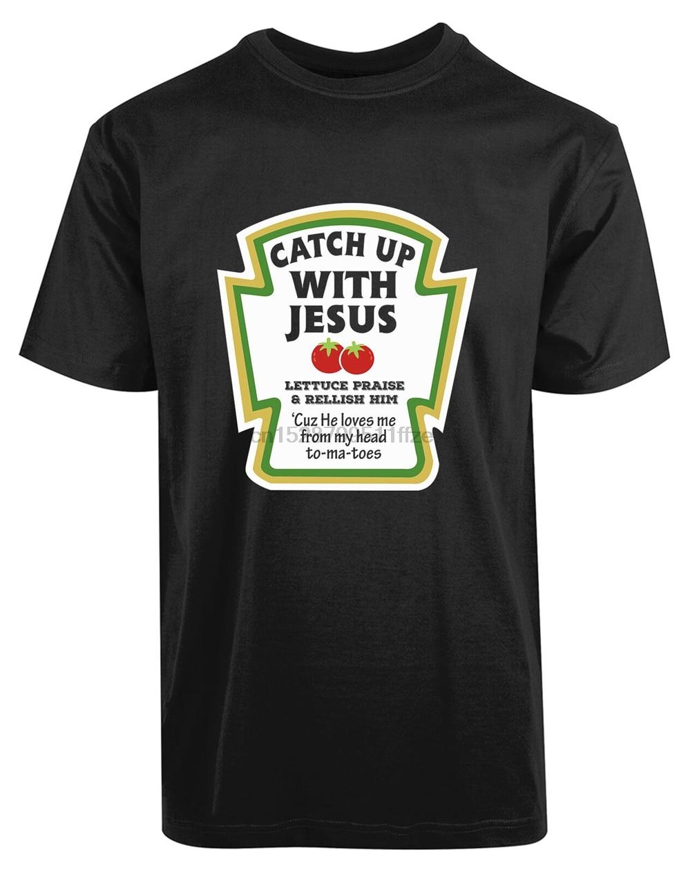 Nueva camiseta para hombre con Jesús Ketchup, camiseta Blessed From My Heart To Ma Toe, camiseta de calidad Superior