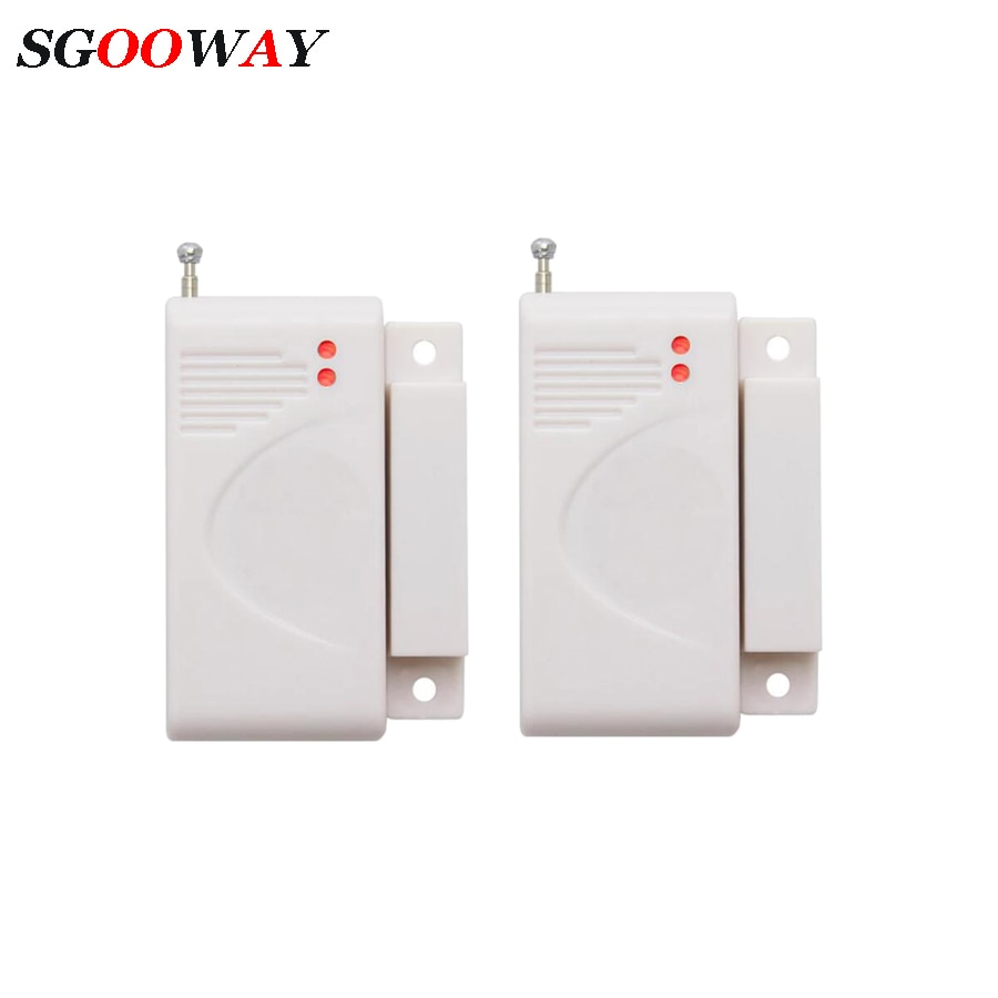 जीएसएम एसएमएस वाईफ़ाई अलार्म के लिए Sgooway 433MHz वायरलेस दरवाजा सेंसर चुंबकीय संपर्क डिटेक्टर