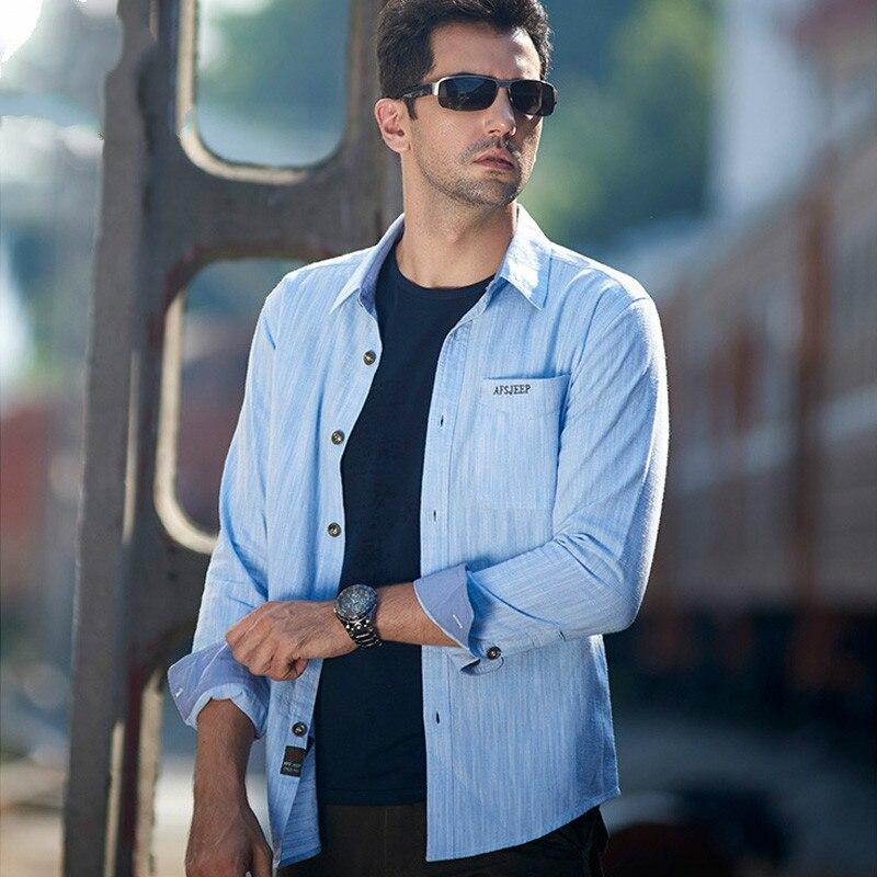 Мужская классическая рубашка, армейская классическая рубашка в стиле ретро, 100% хлопок