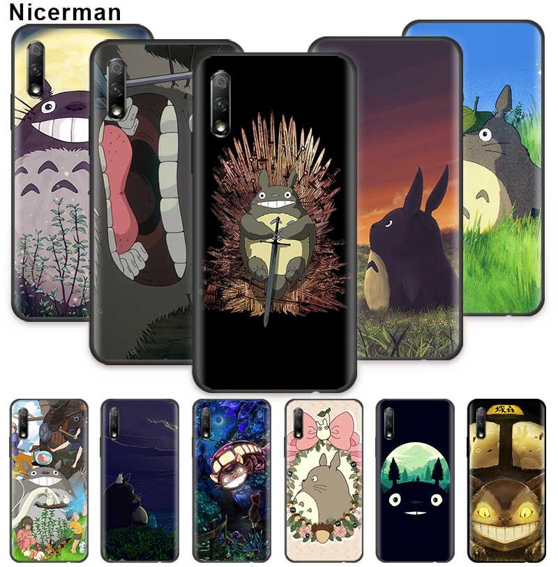 Anime Totoro funda para Huawei Honor 20 Pro 20e 20S 30 30S 10 9X Lite 9A 9C 9S 8A, cubierta del teléfono de silicona