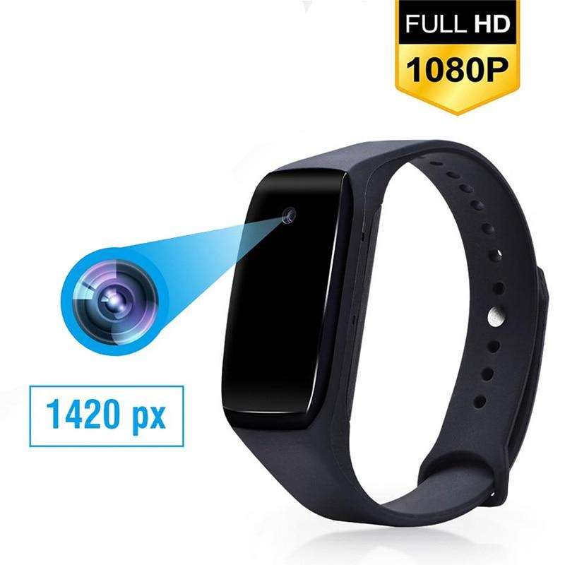 HD 1080P Camcorder Smart Bracelet Camera Mini Camera Wristband 14.2 Million Pixels Wearable Device Bracelet Cam