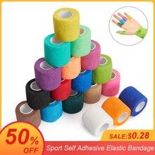 Vendaje elástico autoadhesivo para deporte, cinta Elastoplast colorida para soporte de rodilla, almohadillas para dedo, tobillo, palma, hombro, 4,5 m