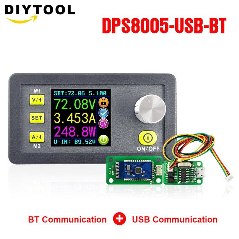DPS8005 voltaje constante programable corriente Step-down fuente de alimentación módulo voltímetro amperímetro convertidor buck 80V 5A + USB + BT
