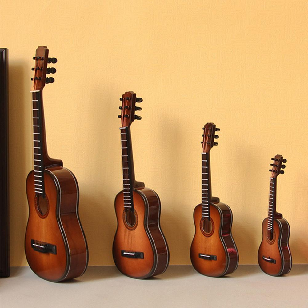 Mini Guitarra miniatura modelo de madera Mini instrumento Musical modelo