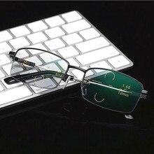 Nouvelle mode titane Progressive lunettes de lecture multifocale en gros Anti-réflexion bleu lumière verre lunettes livraison directe
