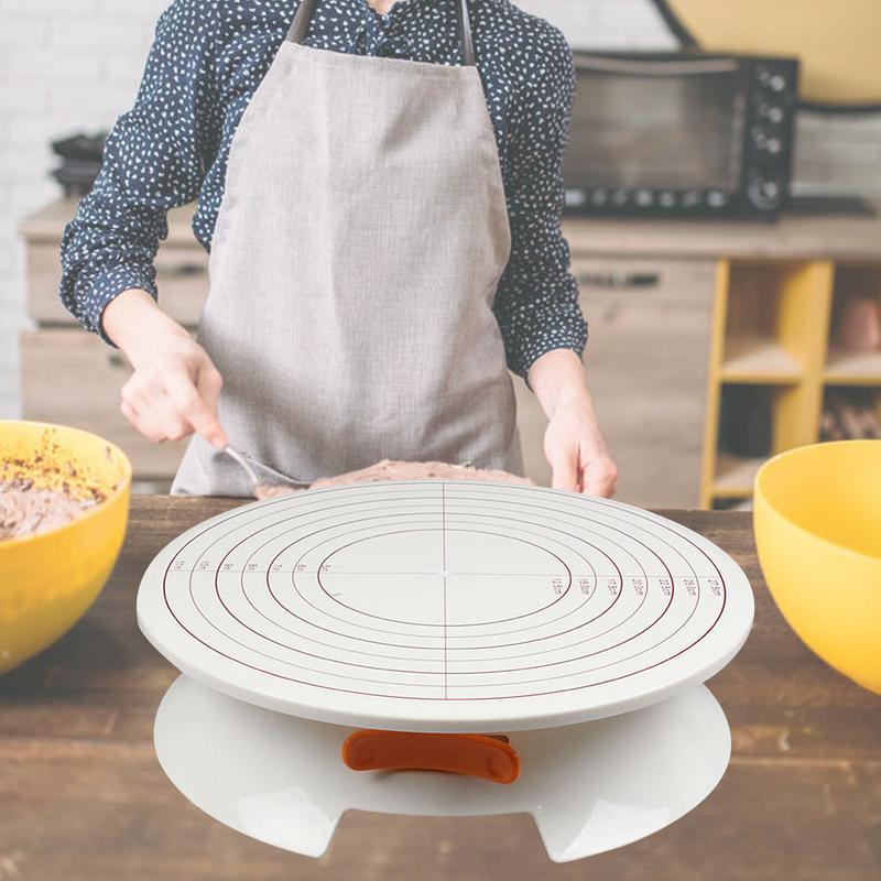 2019 nuevo soporte de mesa giratoria de pastel con hebilla ajustable, plato giratorio estable ligero, mesa giratoria DIY, herramienta para hornear pasteles