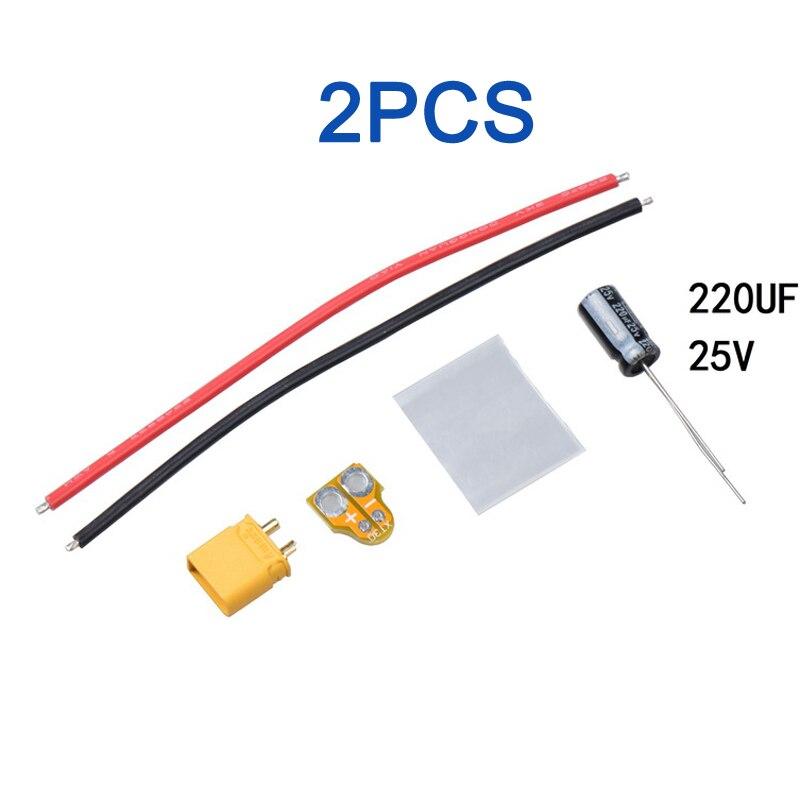 2 piezas XT30-CAP Filtro de potencia de silicona de alambre 2 S-6...
