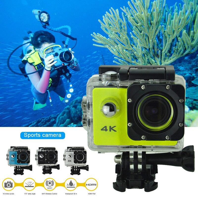 Câmera de vídeo para ação esportiva 4k, câmera com ângulo de visão amplo, à prova d água, para bicicleta, ar livre, dja99