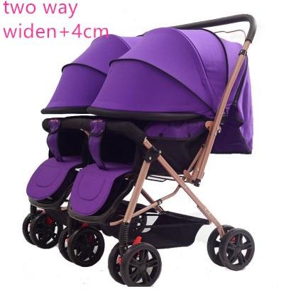 عربة أطفال توأم 2 عربة أطفال عالية المناظر الطبيعية