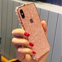 Luxury Fashion Bling Case for Apple iPhone 11 Pro XS MAX XR X 6 6s 7 8 plus Diamond Frame Rhinestone Flash Glitter Phone Cover