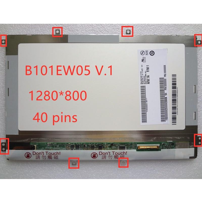 """10.1 """"portátil para acer iconia tab a500 b101ew05 v.1 b101ew05 v1 lcd tela de substituição do painel matriz 1280*800 40 pinos"""