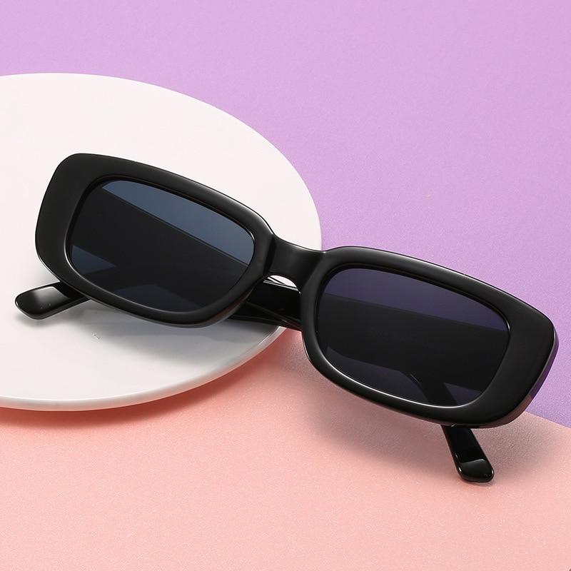 Gafas De Sol cuadradas y negras Vintage para mujer, lentes De Sol...
