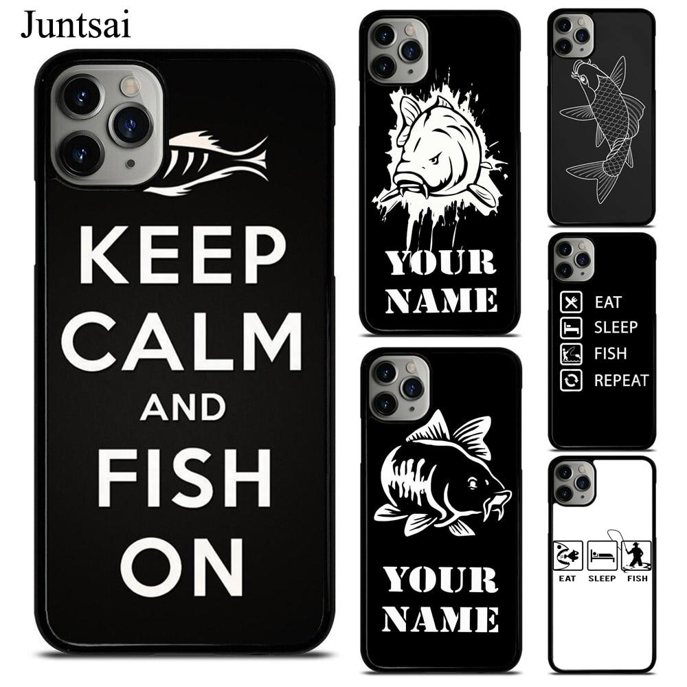 Fish Repeat, carcasa personalizada con nombre de carpa para iphone XR X XS 11 Pro Max SE 2020 6s 8 7 Plus, funda 5S de TPU, funda de goma para teléfono