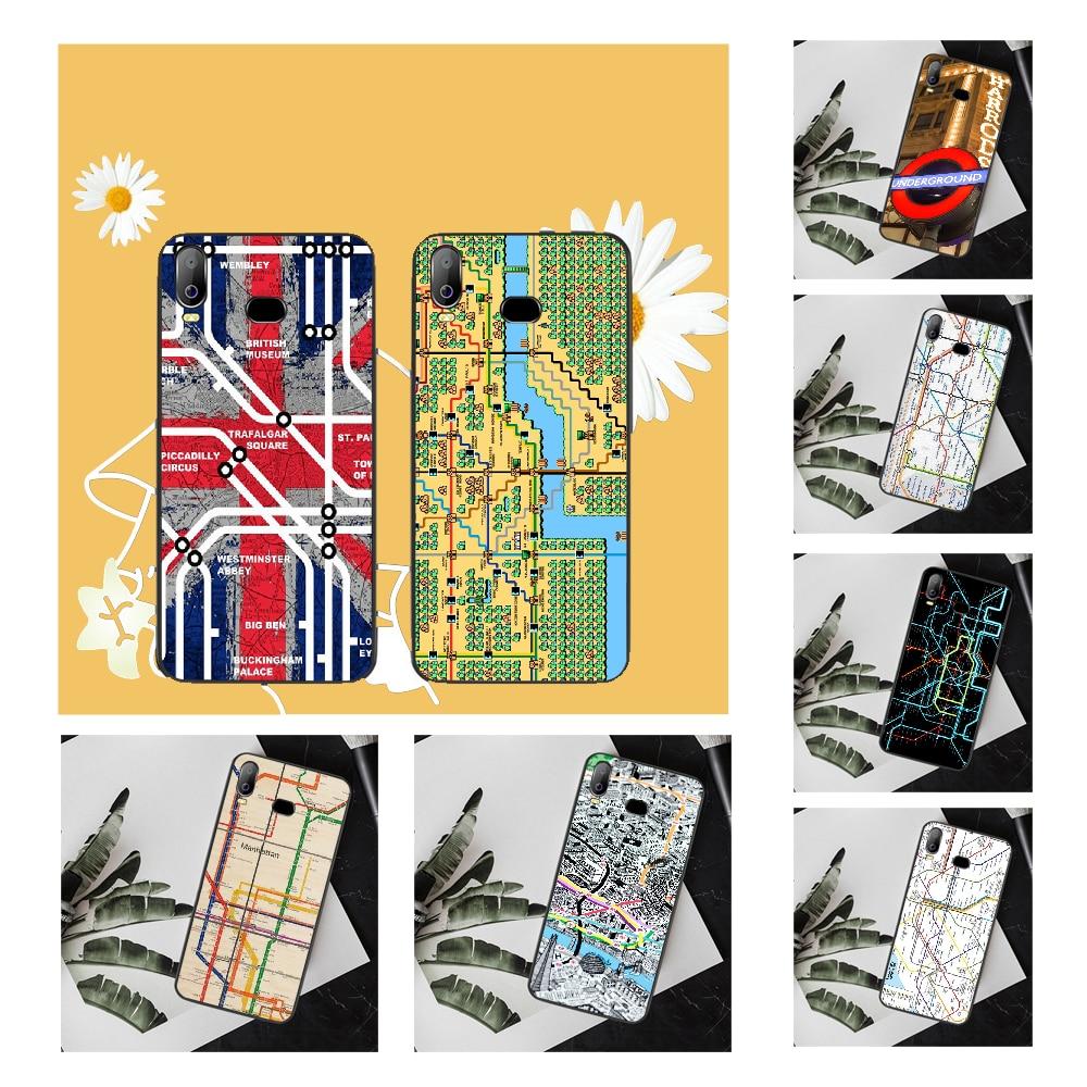 NBDRUICAI london underground tube map vintage Phone Case Cover For Samsung A10 A20 A30 A40 A50 A70 A71 A51 A6 A8 2018