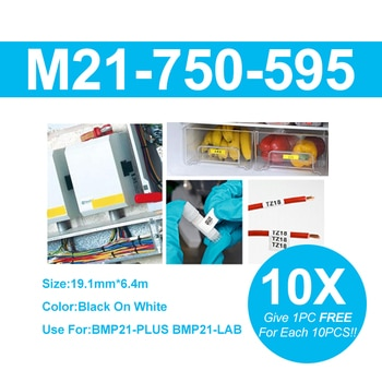 NEW Free Shipping M21-750-595 Balck On Yellow Label Tape 19.1mm 6.4m For BMP21-PLUS BMP21-LAB