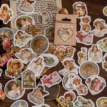 46pcs Retro Angel Dream Diy Stationary Stickers Decorative Sticker For Scrapbooking Kid Diy Arts Crafts Album Journaling Planner