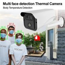 AI intelligent détection du corps humain sans Contact IR sécurité IP CCTV caméra dimagerie thermique indicateur de température alarme de détection de fièvre