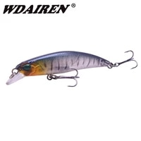 1pcs minnow fishing lure 65mm 3 8g floating fishing wobblers artificial hard bait crankbait bass pike isca fishing tackle