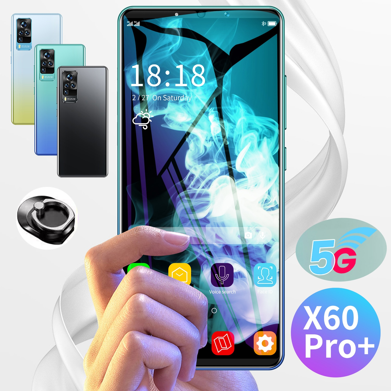 X60 برو + الإصدار العالمي الهاتف المحمول 5G شبكات 5200mah الهاتف الذكي 32MP الخلفية HD كاميرا 8GB + 256GB 6.1 أندرويد 10.0 الهواتف المحمولة