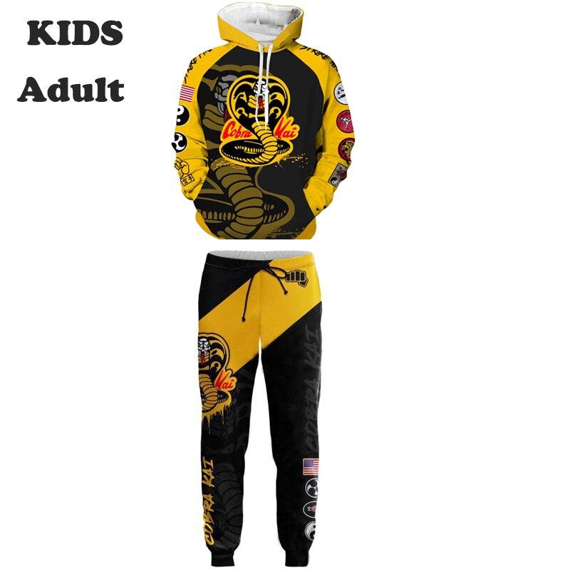 Movie Cobra Kai Hoodies Cosplay Costume Karate Kid Jackets Cosplay 3D Printing zipper Hoodies Sweatshirts men women sports coat