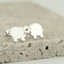 Pig Stud Earrings Fashion Cute Cartoon Piggy Earring Animal Jewelry Best Gift for Woman Girls