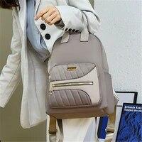 gray oxford bag women large capacity backpack multifunction anti theft travel rucksack student school bags simple female mochila