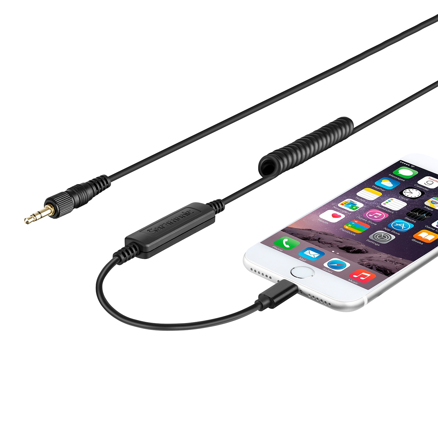 Saramonic LC-C35 Output Cable Locking 3.5mm Male Connector to Apple Certified Lightning for iOS Device Vlog Film Making Shoot enlarge