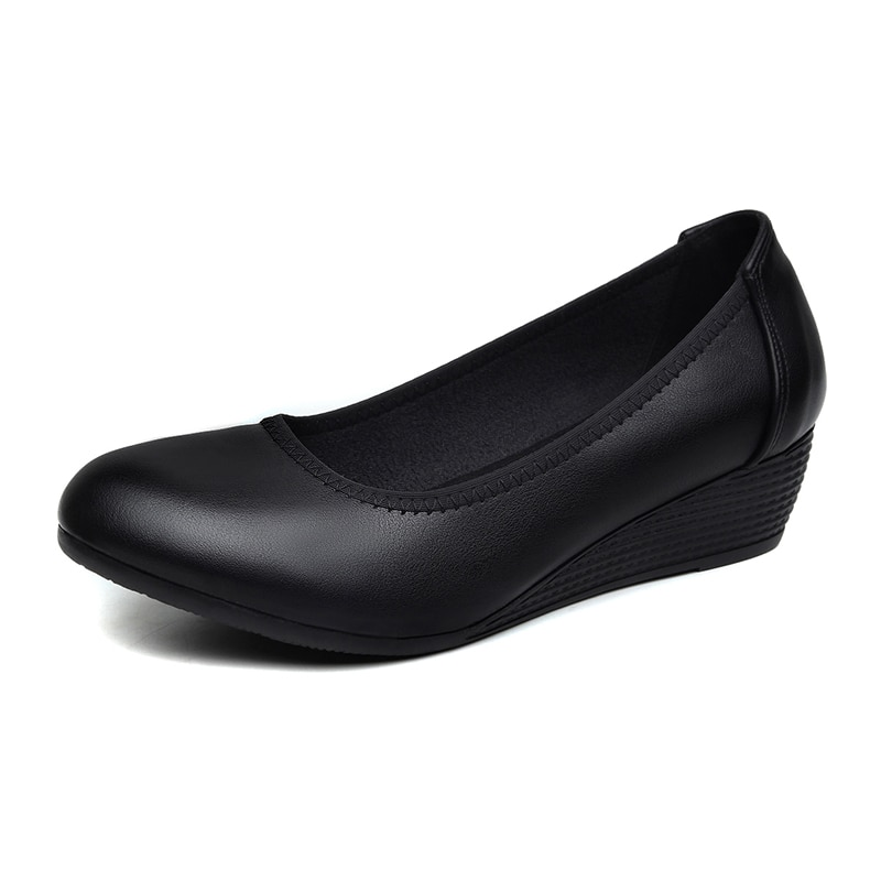 AliExpress - Work  Soft Bottom is  Comfortable to Wear  Professional Sloping  and Round Office Shoes Women