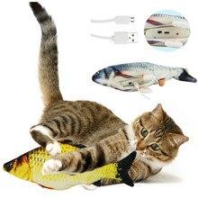 Elektronische Katze Spielzeug 3D Fisch Elektrische Simulation Fisch Spielzeug für Katzen Haustier Spielen Spielzeug katze liefert juguetes para gatos