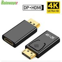 Переходник DP в HDMI-совместимый с макс. 4K 60 Гц, переходник «штырь-гнездо» с кабелем, переходник DisplayPort в HDMI для ПК, ТВ-проектора