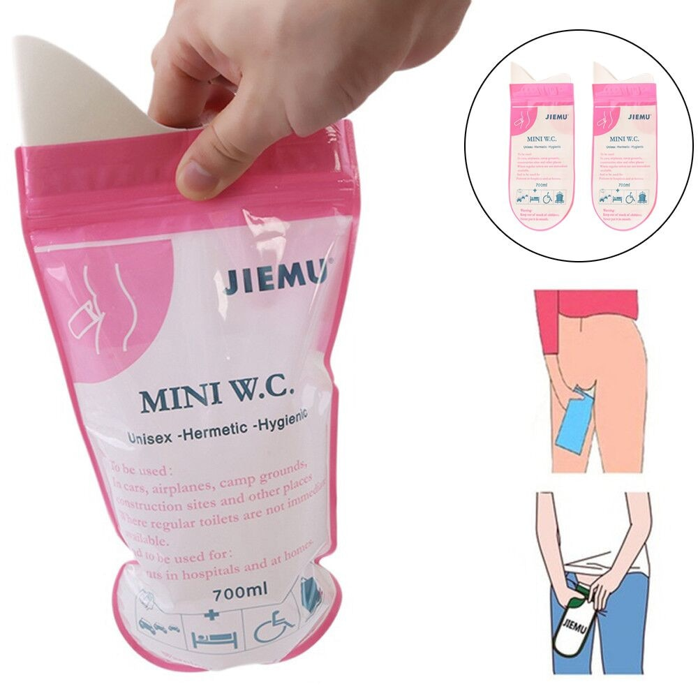 1/4PCS Outdoor Emergency Urinate Bags 700ml Easy Take Piss Bags Travel Mini Mobile Toilet For Baby/Women/Men Vomit Bag