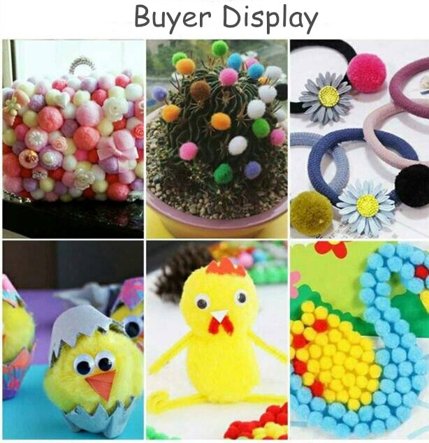 Wholesale 1000Pcs 10mm Pompoms Soft Pom Poms Fur Ball Arts Toys Crafts DIY Apparel Sewing Fabric Supplies Wedding Home Dec
