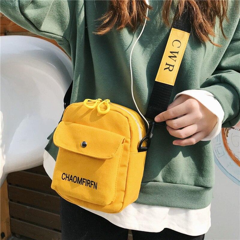 Fashion Canvas Women Bags Solid Color Casual Shoulder Bag 2020 New Handbag Outdoor Bag Zipper Messenger Bag Main Women