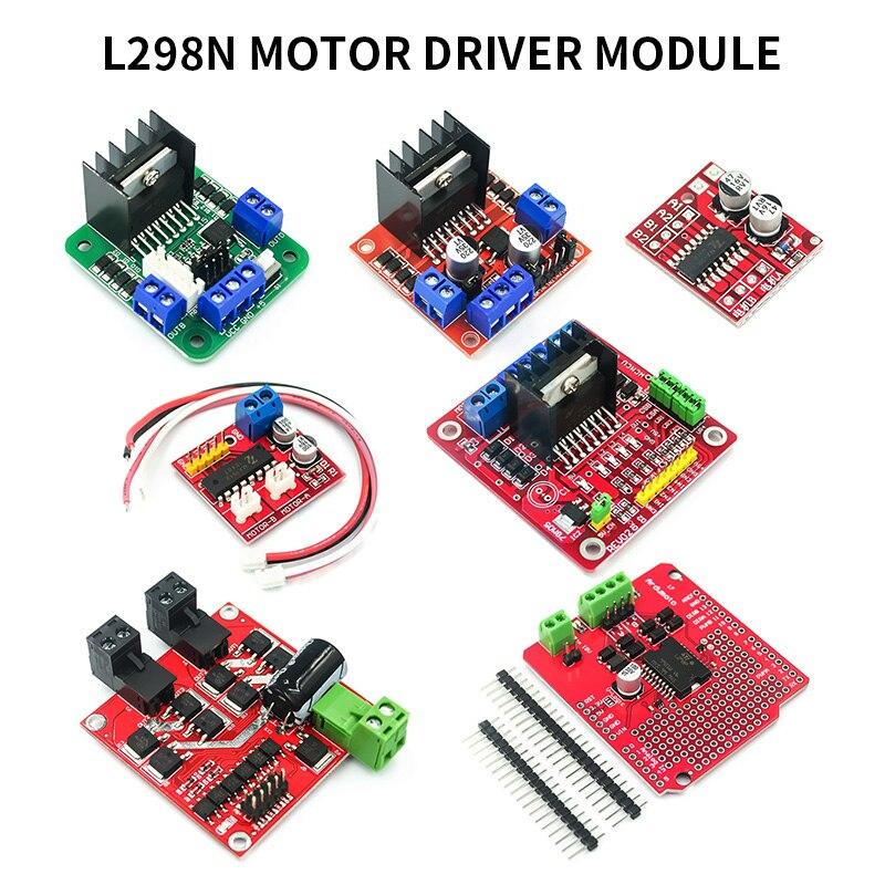 Driver module L298N for Arduino DIY Electronics robot smart car breadboard,use Double H-bridge DC motor driver chip L298N