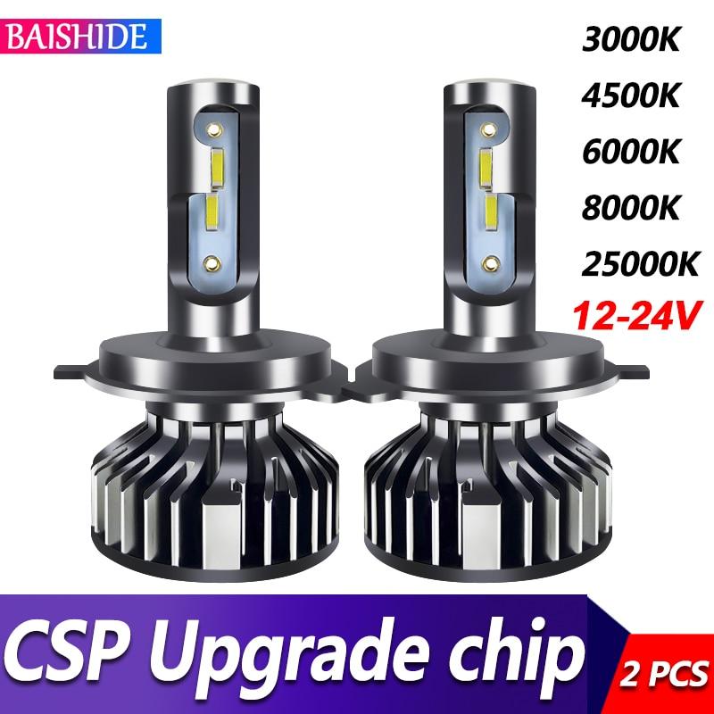 BAISHIDE Car Lights H4 LED H7 20000LM H11 LED Lamp for Car Headlight Bulbs H1 H8 H9 9005 9006 HB3 HB4 Turbo H7 LED Bulbs 12V 24V