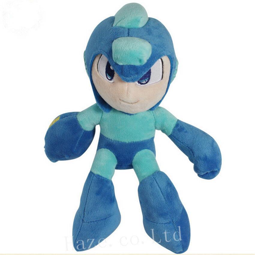 Hot Game MegaMan / Rockman Series Plush Doll Soft PP Cotton Stuffed Toy 27cm Mega Man For Children Kids Great Gift Toys