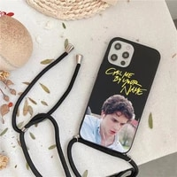 call me by your name phone case for iphone 7 8 11 12 x xs xr mini pro max plus strap cord chain lanyard soft