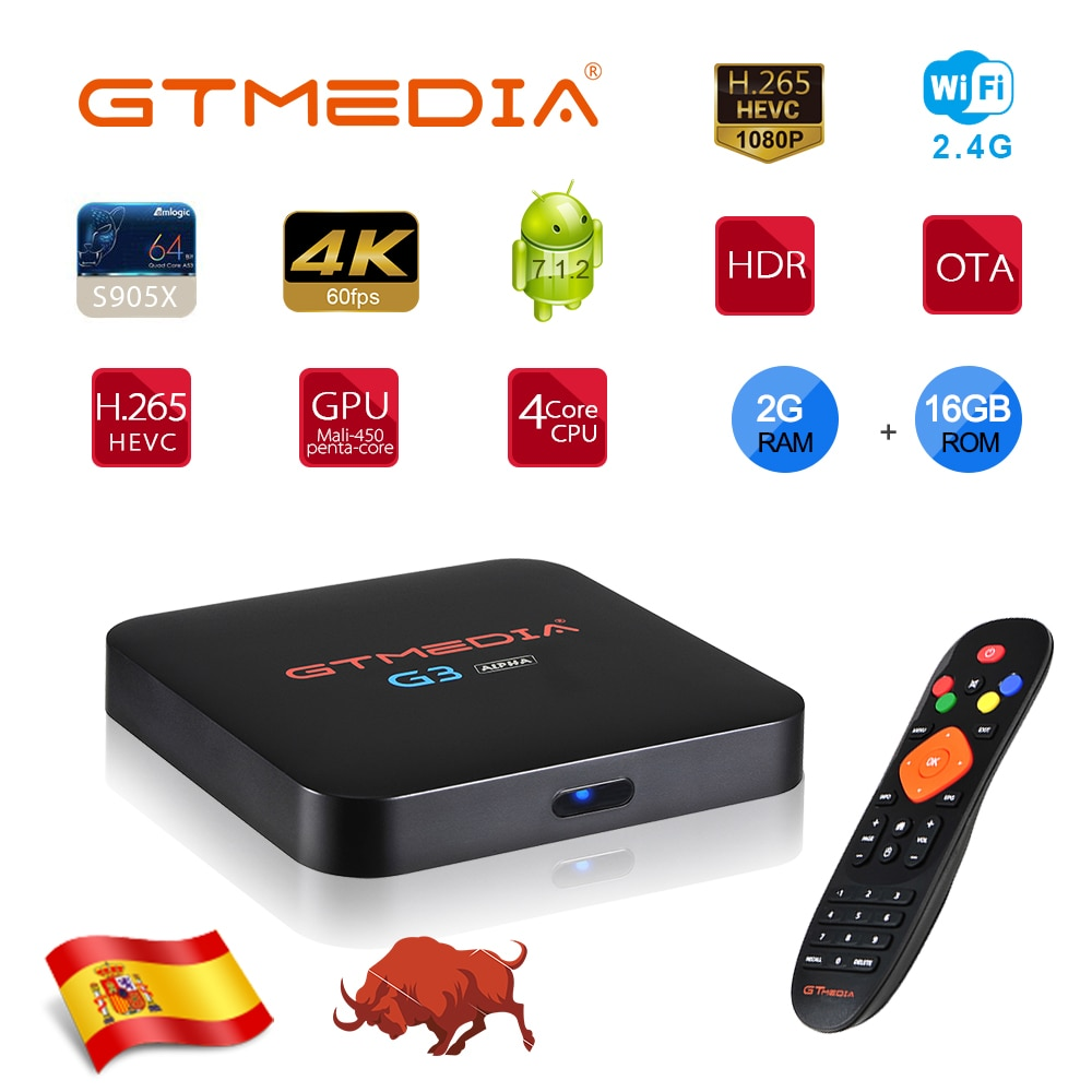 GTMEDIA G3 Smart Tv box Rockchip 4G 2 ГБ 16 ГБ Android Box bluetooth 2,4/5,0G WiFi Google Play Smart Android Tv box Поддержка IPTV