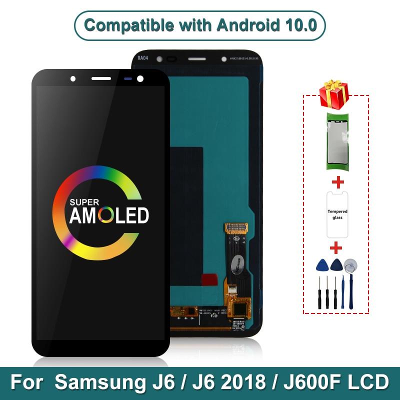 Super AMOLED para Samsung Galaxy J6 2018 LCD J600 J600F J600Y pantalla táctil para SM-J600F J600G J600FN/ds piezas de montaje