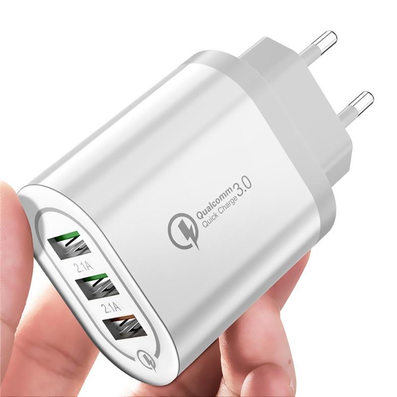 Universal 18W USB Quick charge 3,0 5V 3A Für iphone EU/UNS/Stecker Handy Schnelle ladegerät lade Für iPhone Samsug s20 Xiaomi