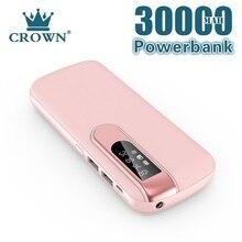 30000 mAh Power Bank Portable Phone Charger Large Capacity Powerbank Outdoor Travel LCD Digital Disp