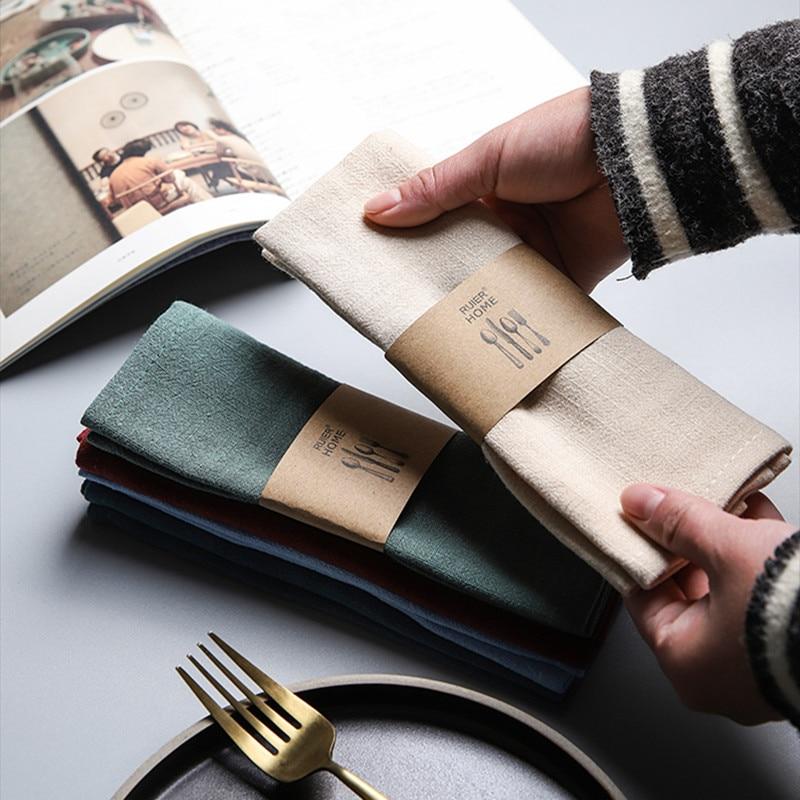 Servilletas de lino, paños de cocina, Mantel Individual de algodón para decoración del hogar, accesorios, paños de cocina de buena absorción de agua